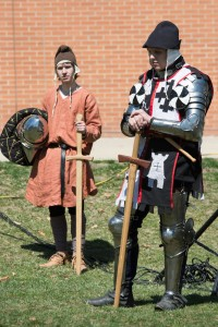 Squire Mike and Sir Nathan